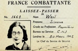 Simone Weil's pass (1909-1943)