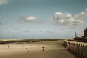 FRANCE. Baie de Somme. Fort Mahon beach. 1991